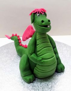 "Edible Pete's Dragon Cake Topper approx 6"" Tall :o)"
