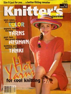 Knitters Magazine Issue No. 43 Summer 1996 88 pages 16 Patterns * Hot Yarns for Cool Knitting * It's About Color * Experts Advise on Novelty Yarns * Part Two, The Great American Afghan * Size It Just for You. . . A Better Fitting Sweater. Bright colors, novelty yarns, hand dyed yarns. #KnittersMagazine #KnittingMagazine