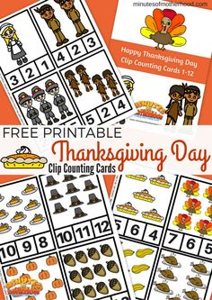 Free Printable Thanksgiving Day Clip Counting Cards 1 -12 I've got Thanksgiving on the brain here lately… I blame the pies although the turkey, dressing, corn, and all the other sides play into my excitement too. I'm also excited about the family time and the encouragement to think about all the things we have to... Read More »