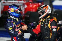 Kimi Räikkönen and Vettel