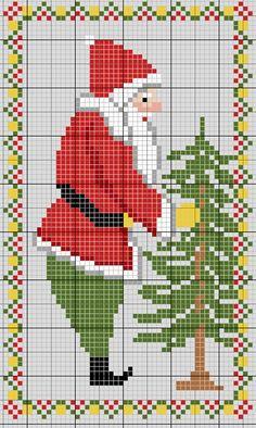 Six cross stitch Santa patterns Santa Cross Stitch, Cross Stitch Samplers, Cross Stitch Charts, Counted Cross Stitch Patterns, Cross Stitch Designs, Cross Stitching, Cross Stitch Embroidery, Cross Stitch Christmas Ornaments, Christmas Embroidery