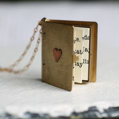 Book Locket ... Secret Message Personalised Book Lover's Gift