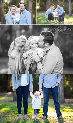 Outdoor family portrait shoot