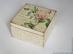 Inspiracion de la red (parte 2) - Página 40 Painted Boxes, Wooden Boxes, Hand Painted, Decoupage Box, Decoupage Vintage, Shabby Chic Boxes, Altered Cigar Boxes, Wood Crafts, Diy Crafts