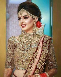 Indian Wedding Makeup, Indian Bridal Outfits, Pakistani Wedding Outfits, Indian Bridal Fashion,