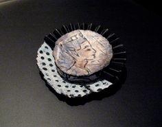 Brooch made of polymer clay   Saruva