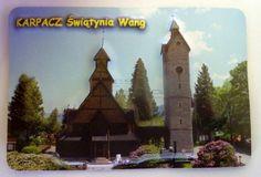 Pamiątkowy Magnes 3D Świątynia Wang w Karpaczu | Pamiątkowe Magnesy | Upominki24.com