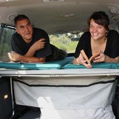 Two adults can sleep in the cabin of the car