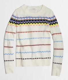 Cozy Sweater: Zig-Zag Fair Isle Sweater #knit #knits #knitwear #cardigan #sweater #trui #truien #vest #vesten #sweaters #sweater