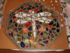 Concrete mosaic stepping stone 2
