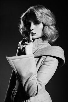 Traffic Magazine/ Mischa Bartonwearing Lloyd Klein Couture Photographed by Udo Spreitzenbarth Styled by Ty-Ron Mayes  #lloyd_klein