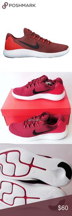 new arrival 61dda 371cf New Nike Lunar Converge Running Sneaker Color  DARK CAYENNE BLACK-MAX  ORANGE Condition