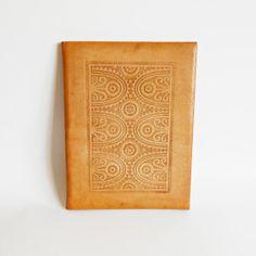 Vintage brown leather folder Vintage office decor by BibyVintage, $25.00