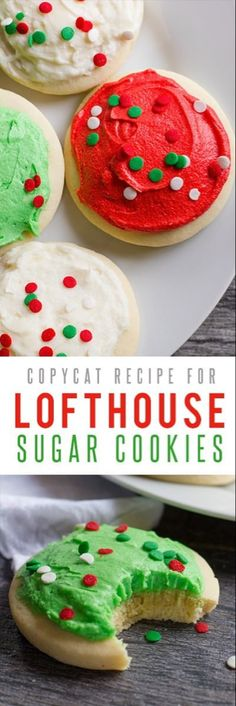Lofthouse Sugar Cookies: these cookies are so fluffy and delicious that they take the sugar cookie idea up another level. Great recipe for buttercream frosting to top them too! Back To Her Roots(Baking Cookies Buttercream Frosting)