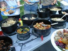 Dutch oven cooking requires a little fore thought and after the pot is seasoned or prepped, it's as simple as crock pot cooking in you. Vw Camping, Camping Meals, Camping Dishes, Glamping, Camping Cooking, Camping Stuff, Camping Tips, Cast Iron Cooking, Oven Cooking