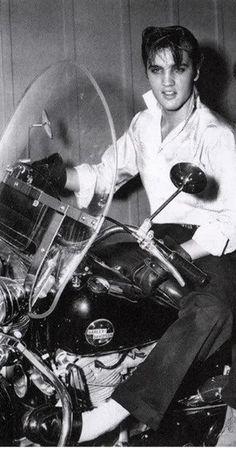 ELVIS on his Harley **....♡♥♡♥♡♥Love★it                                                                                                                                                                                 More