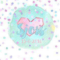Sjors, geboortekaartje, meisje, babygirl, hipkaartje, confettikaartje, gratis proefpakketje, betaalbaar, hip, cool, Studionouk geboortekaartjes