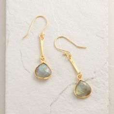 One of my favorite discoveries at WorldMarket.com: Gold and Labradorite Linear Teardrop Earrings