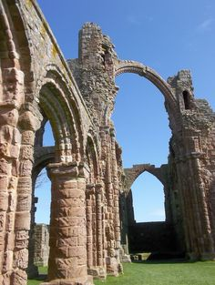 Lindisfarne Priory, Holy Island.  Not quite intact, but ruins seem almost more quietly spiritual.