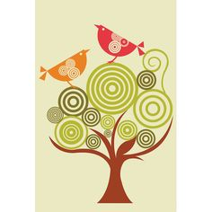 East Urban Home The Funky Tree by Valentina Harper Graphic Art on Wrapped Canvas Size: