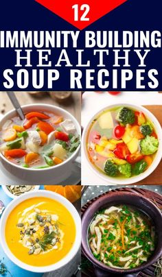 Lower Excess Fat Rooster Recipes That Basically Prime 12 Immunity Boosting Soup Recipes Looking For Healthy Soup Recipes To Feel Better Fast? Look at These Healthy, Easy Soup Recipes That Boost Your Health And Keep You And Your Kids From Getting Sick From Clean Eating Soup, Clean Eating Recipes, Clean Eating Snacks, Healthy Eating Meal Plan, Dinner Healthy, Soup For Sick, Healthy Sweet Snacks, Healthy Crockpot Recipes, Healthy Soups