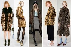 Animal print coats at Sonia Rykiel, Maison Margiela, Alexander Wang, Adam Lippes and RochasDoes this classic ever really go out of style? Not really, but the classic animal print coat is something we'll be seeing in the stores for a long time come the pre-fall season..