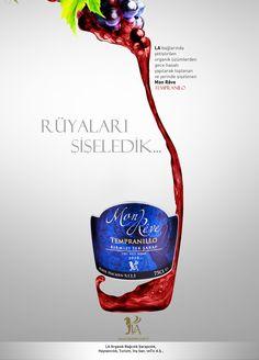 LA Wines - design by Koray Cengiz Wine Advertising, Advertising Pictures, Ads Creative, Creative Advertising, Wine Design, Bottle Design, Wein Poster, Order Wine Online, Wine Gift Baskets