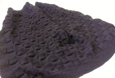 Knit Pattern Navy Blue Knit Checkered Baby by MockingbirdKnits, $3.50
