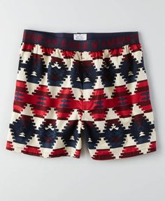 American Eagle Southwestern Boxer, Men's, Red American Eagle Underwear, American Eagle Boxers, Girl Boxers, Men's Boxers, Boxer Briefs, Mens Innerwear, Future Clothes, Fleece Joggers, Mens Outfitters