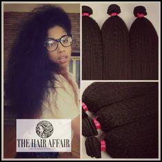 Coarse Yaki Virgin Brazilian Human Hair  Bundle by TheHairAffair, $85.00
