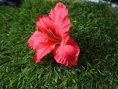 Haarnadel, Haarschmuck,  Gladiolen, rot von GeschmeideZauber auf DaWanda.com