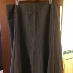 Grey a line skirt. Grey a line skirt. Comes with black belt. Not pictured. new directions Skirts A-Line or Full