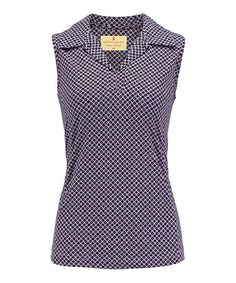 This Lilac Luster Haley Cool Sleeveless Polo - Women by Sport Haley is perfect! #zulilyfinds
