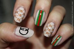 Gucci nails; for all you label freaks
