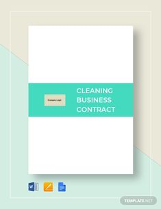 Cleaning Contract Template - Word (DOC) | Google Docs | Apple (MAC) Pages | Template.net Cleaning Contracts, Cleaning Services, Cleaning Business, Google Docs, Word Doc, Start Up Business, Letter Size, Clean House, Apple Mac