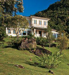 Casa de sítio em Paraty lembra casarões coloniais - Casa
