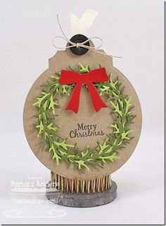 Winter Wreath Die-namics, Decorative Circle Tag STAX Die-namics - Barbara Anders