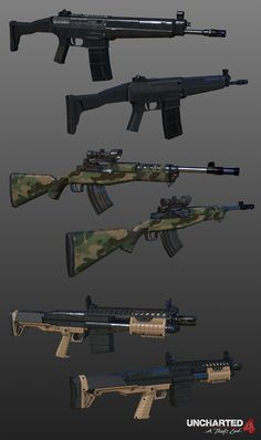 ArtStation - Uncharted 4 Props, Weapons, and Vehicles, Michel Hatfield