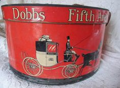 Vintage 1940's RED Dobbs Fifth Avenue Hat Box by AuntSuesVintage, $49.99