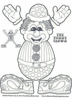 9 Best Images of Circus Theme Preschool Printable Worksheets - Preschool Circus Activities Printable, Kindergarten Circus Math Worksheets and Circus Preschool Printable Worksheet Clown Crafts, Circus Crafts, Carnival Crafts, Puppet Crafts, Circus Birthday, Circus Theme, Circus Party, Preschool Circus, Circus Activities
