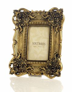 8e747f4db61 Shabby Chic Style Very Ornate Antique Gold Photo Frame for 6