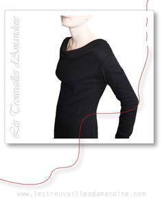 Idée Couture DIY - Robe Jersey Jersey NOIR Réalisation Les Trouvailles d'Amandine Organic Fabric -  Tissu bio  - Tissu Coton Biologique Les Trouvailles d'Amandine - www.lestrouvaillesadamandine.com Fabrication française