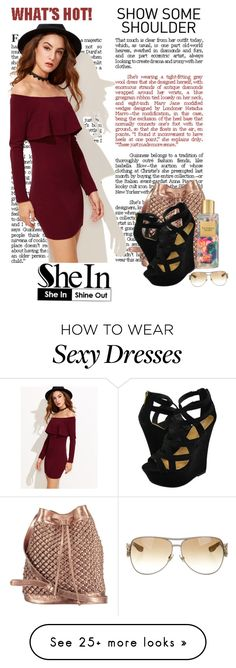 """Off the shoulder with wedges!"" by natania-dydell on Polyvore featuring nooki design, Victoria's Secret, Dollhouse and Gucci"