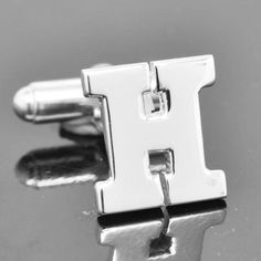 Initial H, Personalized cufflinks, Initial cufflinks, mens accessories, mens cufflinks, groomsmen gift, Gift for Father, Wedding day gift by JubileJewel on Etsy