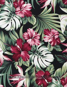 Hibiscus fabric #rayon #tropical #hawaiianfabric #fabric #etsyfabric #sewing #diysewing #flowers