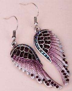 Angel Wings Dangle Earrings