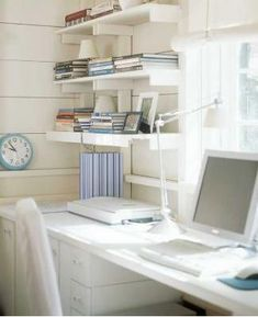 Home office. home office home office - Home and Garden Design Idea's Wood Beam Frames Design Ideas, Pictures, Remodel, and Decor Home Office Space, Office Workspace, Home Office Design, Modern House Design, Office Walls, Office Spaces, Work Spaces, Home Design, Design Design