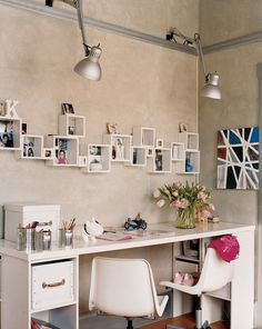 A creative and fun way to display photos in your space. | http://domino.com