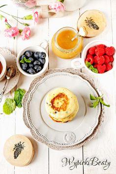Placuszki z borówkami - blueberry classic pancakes