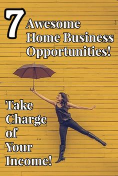 7 Awesome Home Business Opportunities! Moms, Take Charge of Your Income! If you've been thinking about starting a home biz, this is a great time for it! Here's a list of 7 home business opportunities perfect for moms who want to work from home! Work at home and control your own income! You can make money from home!